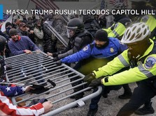 Massa Trump Rusuh Terobos Capitol Hill AS