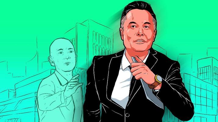 Infografis: Salip Jeff Bezos, Bos Tesla Elon Musk Orang Terkaya di Dunia