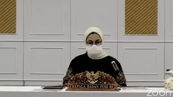Kepala BPOM Penny K. Lukito (Tangkapan Layar Youtube BPOM)