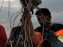 Tim SAR Temukan Puing Alumunium & Kabel di Kepulauan Seribu