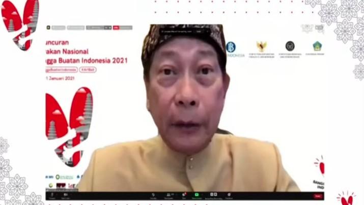 Direktur Utama PT Bank Central Asia Tbk (BBCA) Jahja Setiaatmadja dalam acara Peluncuran Gerakan Nasional Bangga Buatan Indonesia (Tangkapan Layar)