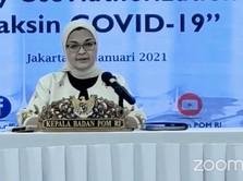 BPOM: Kemanjuran Vaksin Sinovac di Indonesia 65,3%