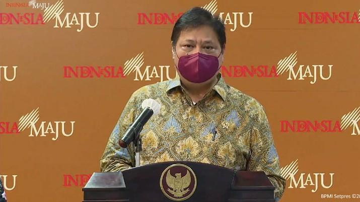 Menteri Koordinator Bidang Perekonomian Airlangga Hartarto (Tangkapan Layar Youtube Sekretariat Presiden)