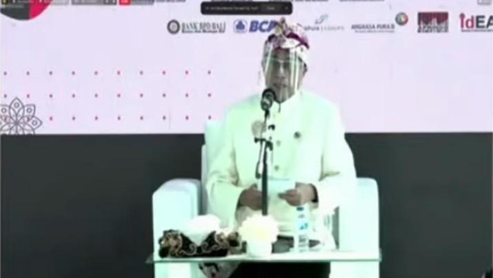 Menteri Perhubungan Budi Karya Sumadi dalam acara Peluncuran Gerakan Nasional Bangga Buatan Indonesia (Tangkapan Layar)