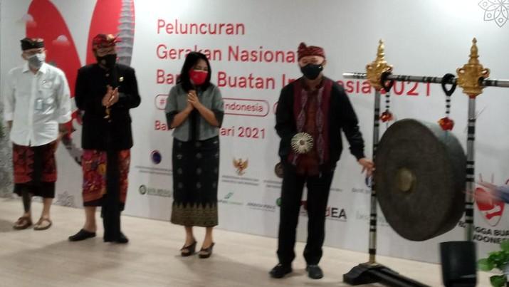 Peluncuran Gerakan Nasional Bangga Buatan Indonesia (CNBC Indonesia/ Syahrizal Sidik)