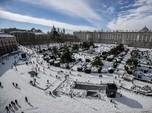 Potret Spanyol Diterjang Badai Salju Terburuk dalam 50 Tahun