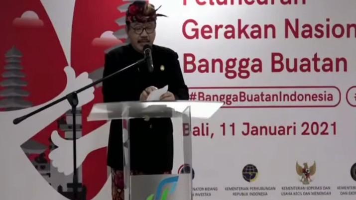 Wakil Gubernur Bali Tjokorda Oka Artha Ardana Sukawati dalam Peluncuran Gerakan Nasional Bangga Buatan Indonesia (Tangkapan Layar)
