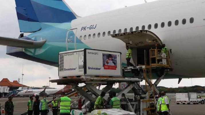 Kedatangan Vaksin Covid-19 Tahap Ketiga, Bandara Soekarno Hatta, 12 Januari 2021. (Foto by kominfo Newsroom, Infopublik, DJIKP, Kominfo)