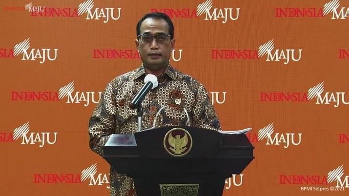 Menteri Perhubungan Budi Karya Sumadi (tangkapan Layar Youtube Sekretariat Presiden)
