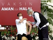 Divaksin Covid-19 Pertama, Ini yang Diucapkan Jokowi