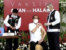 Sah! Jokowi Orang Pertama di RI Divaksin Covid-19