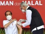 Disuntik Vaksin Sinovac, Jokowi : Nggak Terasa!
