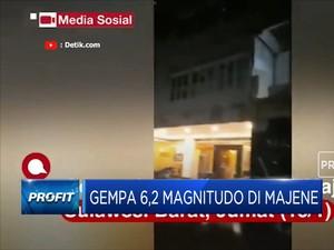 Majene Diguncang Gempa Berkuatan Magnitudo 6,2