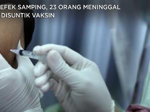 Ada Efek Samping, 23 Orang Meninggal Usai Suntik Vaksin Covid
