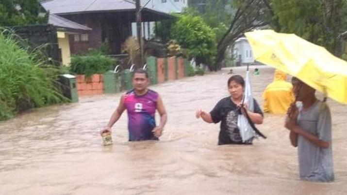 Banjir dan tanah longsor di kota Manado. Dok: BNPB