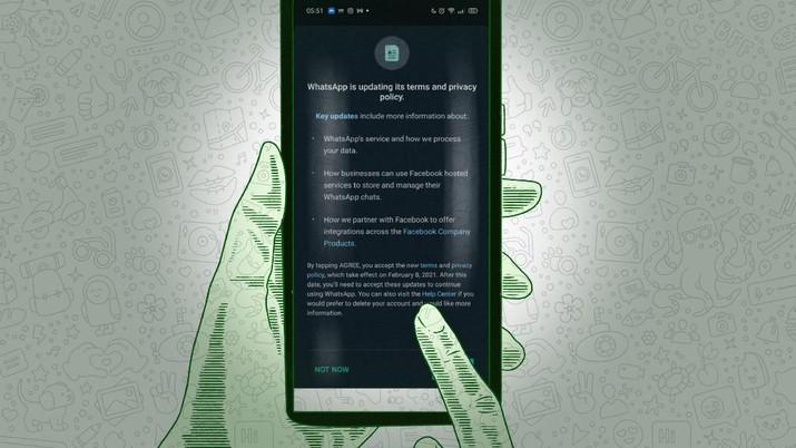 Infografis/Berlaku Di Bulan Mei, Ini kebijakan Privasi Baru Whatsapp/Aristya Rahadian
