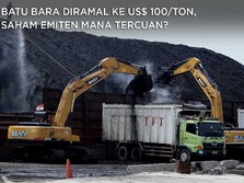 Batu Bara Diramal ke US$ 100/ton, Saham Emiten Mana Tercuan?