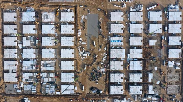 Rumah sakit darurat Covid di China. (AP/Yang Shiyao)