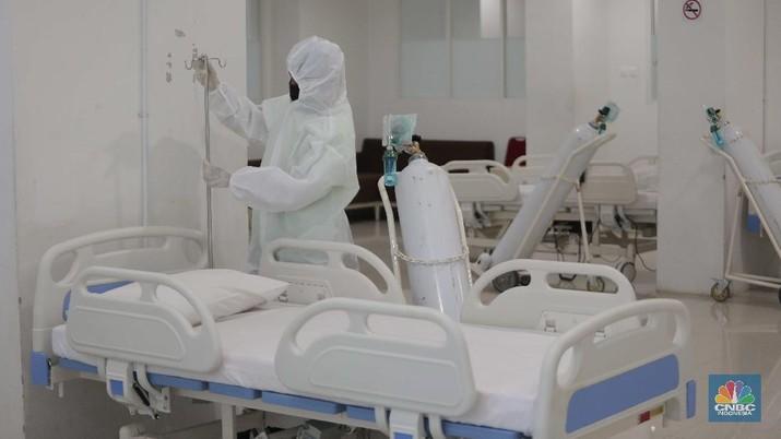 Tower 9 wisma atlet pademangan siap tampung pasien Covid-19. (CNBC Indonesia/Muhammad Sabki)