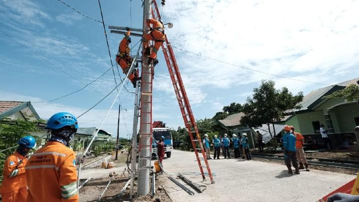 97% gardu listrik terdampak gempa di Mamuju dan Majene, Sulawesi Barat sudah menyala. (Dok: PLN)