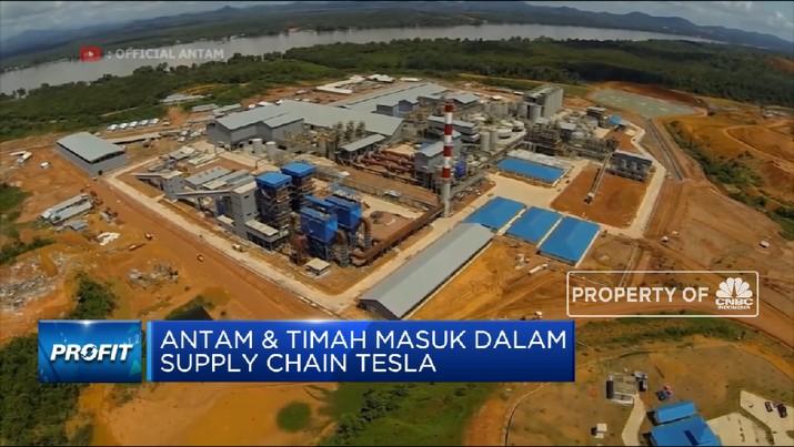 ANTAM & Timah Masuk Dalam Supply Chain Tesla