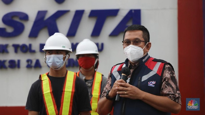Direktur Utama Waskita Karya, Destiawan Soewardjono. (CNBC Indonesia/Andrean Kristianto)