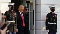 Melihat Detik-detik Akhir Trump Pergi Tinggalkan Gedung Putih