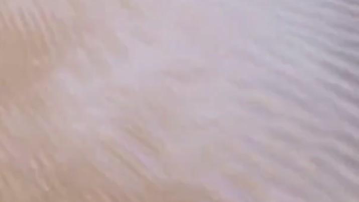 Hujan salju di gurun sahara. (Tangkapan layar cbs news)