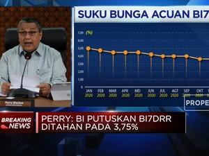 Inflasi Rendah, BI Tahan Suku Bunga Acuan di 3,75%
