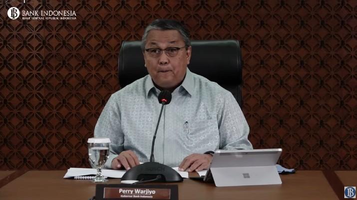 Pengumuman Hasil Rapat Dewan Gubernur (RDG) Bulanan BI. (Tangkapan layar youtube Bank Indonesia)