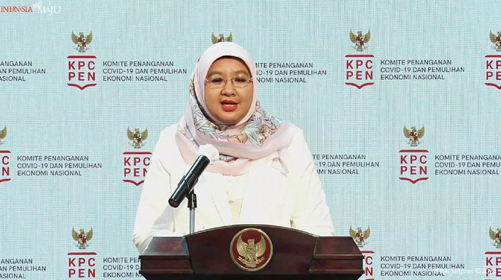 Siti Nadia saat memberikan keterangan pers. (Dok: Tangkapan layar YouTube Setpres)