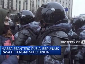 Demo Ricuh Tuntut Pembebasan Pemimpin Oposisi Rusia