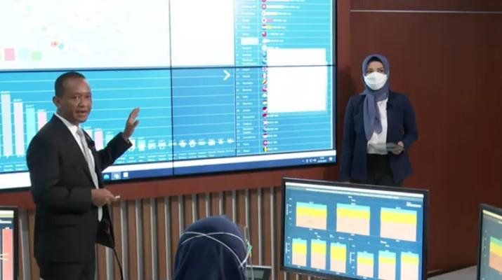 Kepala Badan Koordinasi Penanaman Modal (BKPM), Bahlil Lahadalia saat Konferensi Pers Virtual Realisasi Investasi Triwulan IV 2020 (Tangkapan Layar Youtube BKPM TV - Invest Indonesia)