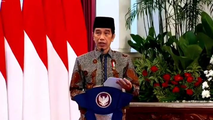 Presiden Joko Widodo dalam acara Peluncuran Gerakan Nasional Wakaf Uang