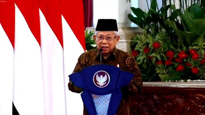Wakil Presiden RI Ma'ruf Amin dalam acara Peluncuran Gerakan Nasional Wakaf Uang