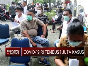 Covid-19 RI Tembus 1 Juta Kasus