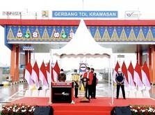 Presiden Jokowi Resmikan Tol Kayu Agung-Palembang 42,5 KM
