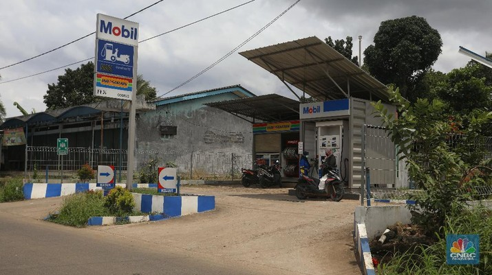 SPBU mini ExxonMobil (CNBC Indonesia/ Andrean Kristianto)