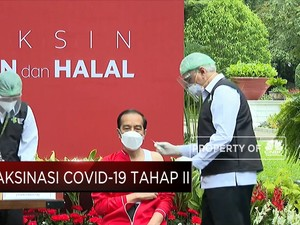 Presiden Jokowi Disuntik Vaksin Covid-19 Dosis Kedua