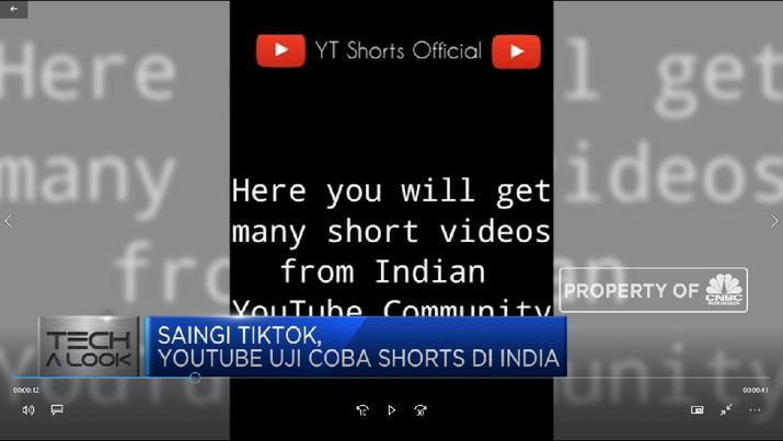Saingi Tiktok,  Youtube Uji Coba Shorts di India