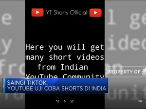 Saingi Tiktok, Youtube Uji Coba Shorts di India