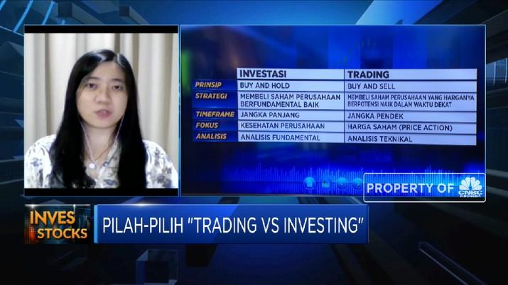 Strategi Penempatan Dana di Pasar Saham Lewat Investing Vs Trading (CNBC INdonesia TV)