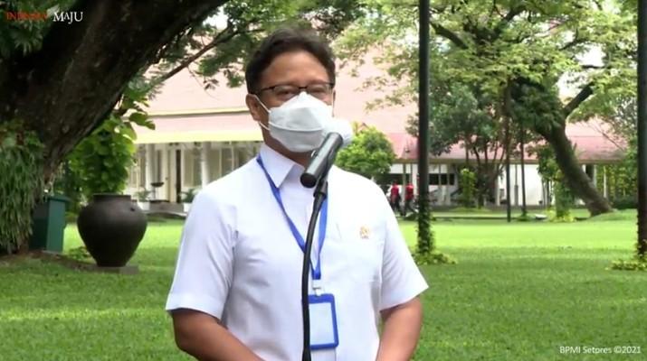 Menteri Kesehatan Budi Gunadi Sadikin usai merima Vaksinasi COVID-19 Tahap Kedua di Istana Kepresidenan Jakarta, Rabu, 27 Januari 2021. (Tangkapan Layar Youtube Sekretariat Presiden)