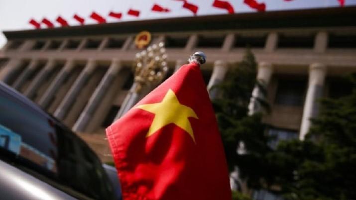 Ilustrasi Bendera Vietnam. Ist