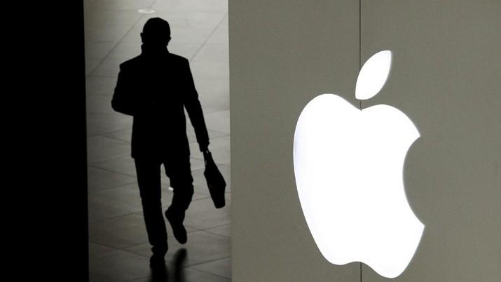 Ilustrasi Apple. (AP/Andy Wong)