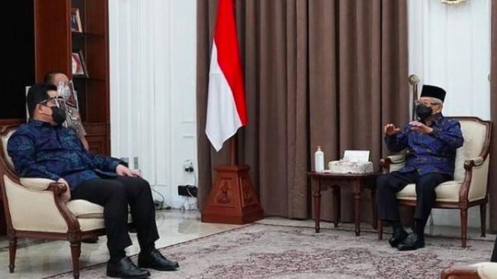Menteri BUMN menghadap Wapres KH Ma'ruf Amin/Instagram @kyai_marufamin