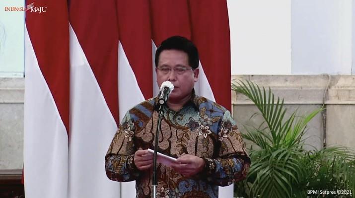 Direktur Utama Bank Syariah Indonesia, Hery Gunardi (Tangkapan Layar Youtube Sekretariat Presiden)