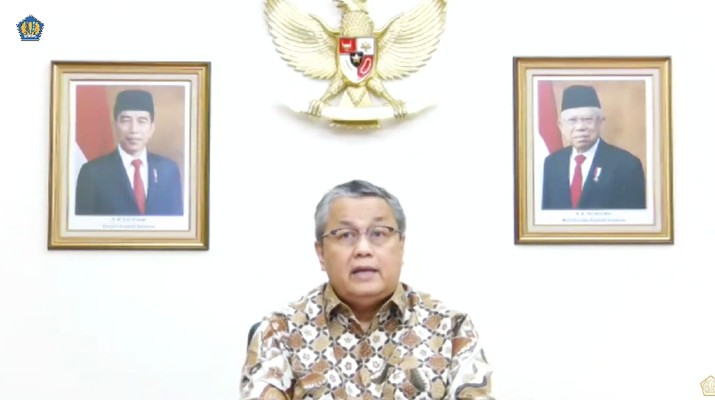 Gubernur Bank Indonesia Perry Warjiyo saat konferensi pers Komite Stabilitas Sistem Keuangan. (tangkapan Layar Youtube Kemenkeu RI)