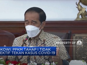 Jokowi: PPKM Tahap I Tidak Efektif Tekan Kasus Covid-19