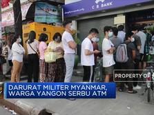 Darurat Militer Myanmar, Warga Yangon Serbu ATM